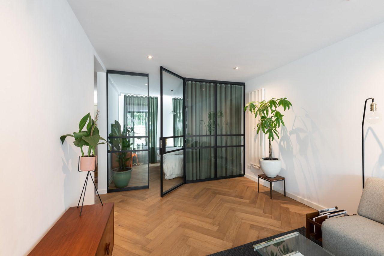 Woonhuis Amsterdam roomdivider slaapkamer GewoonGers