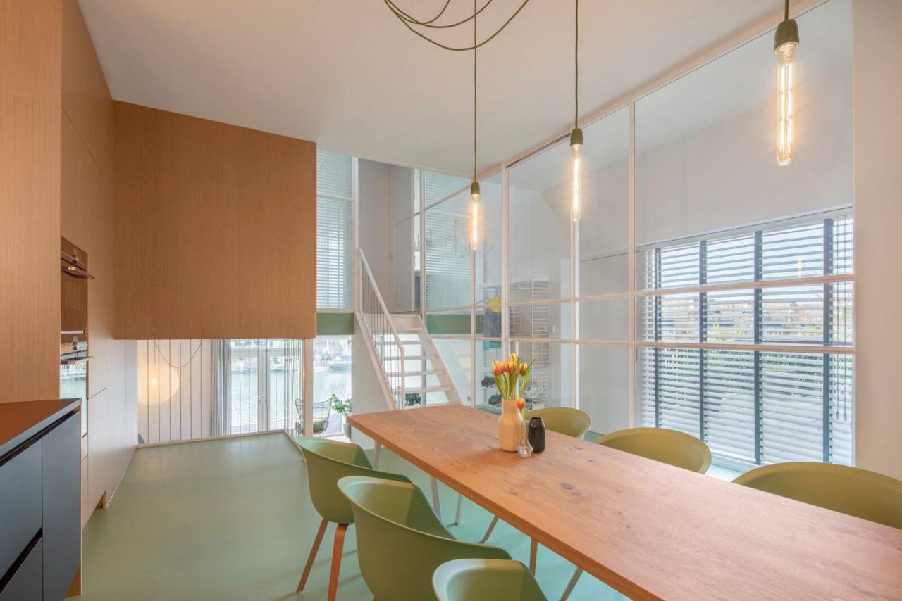 Woonhuis Amsterdam witte roomdivider GewoonGers