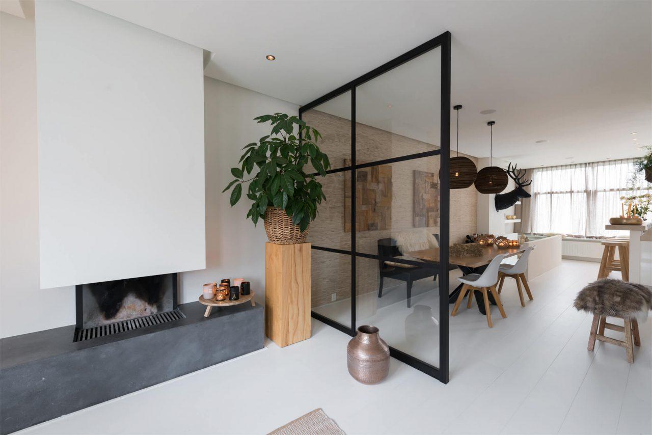 Woonhuis Kralingen Rotterdam paneel woonkamer